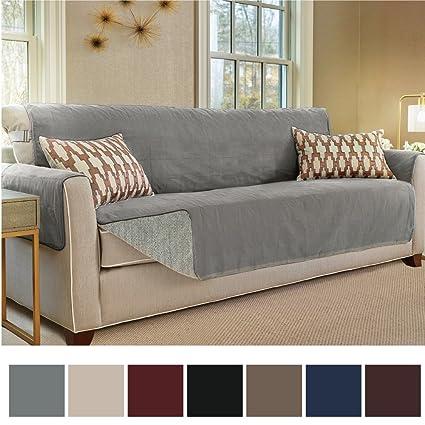 Gorilla Grip Original Slip Resistant Oversize Sofa Slipcover Protector,  Suede Like, Patent Pending