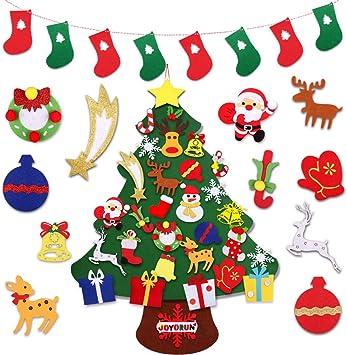 Amazon.com: JOYORUN Árbol de Navidad de fieltro, 3.1 pies ...