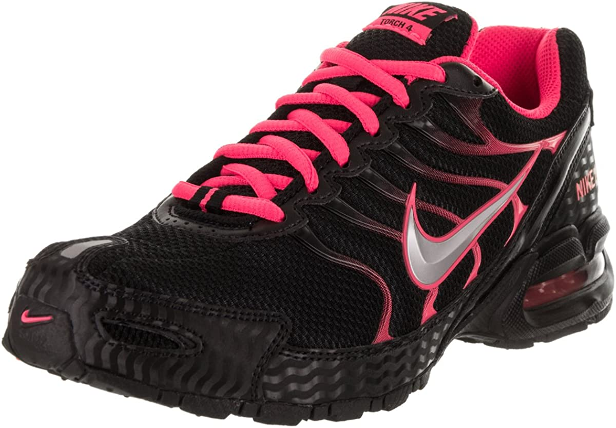 Nike Women s Air Max Torch 4 Running Shoe Black Metallic Silver Pink Flash Size 11 M US