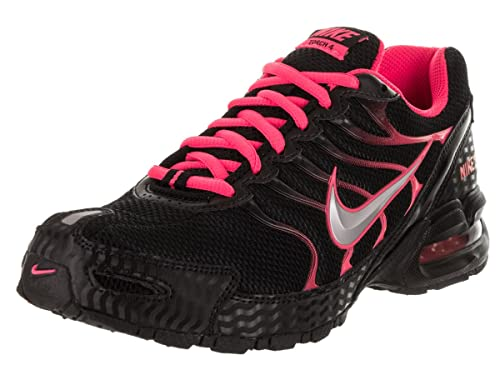 c3f6fbb6544 Nike Women s Air Max Torch 4 Running Shoe Black Metallic Silver Pink Flash  Size