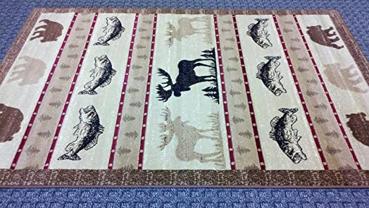 Cabin Area Rug 7 Ft. 7 In. X 10 Ft. 6 In. Design L 361