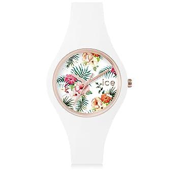 bec528f14e36c Ice-Watch - Ice Flower Legend - Montre Blanche pour Femme avec Bracelet en  Silicone