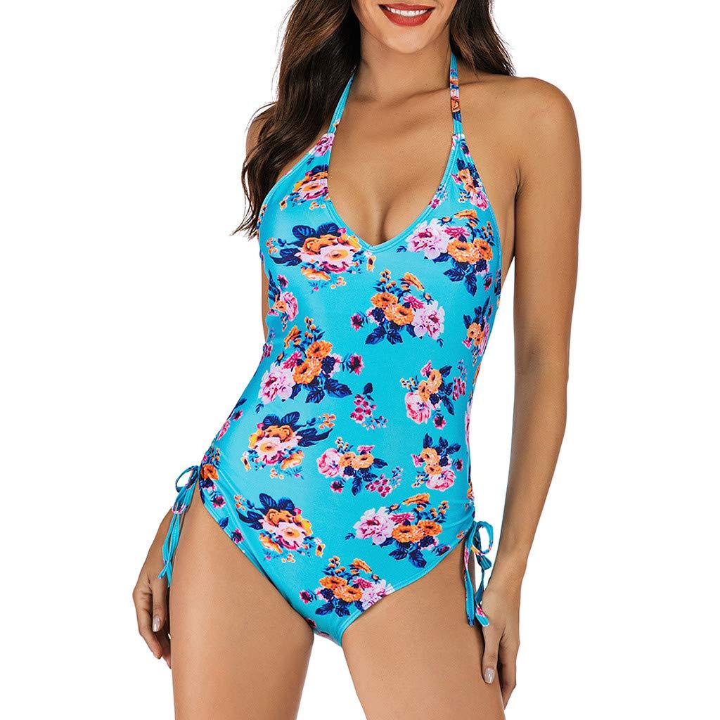 Mosstars Costumi da Bagno Donna Stampa Colorato One Piece Costumi da Bagno Intero Donna Estate Bikini Push Up Bohemian Brasiliana Vita Alta Beachwear Tankini per Donna