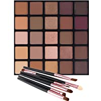 Matte and Shimmer Eyeshadow Palette, Vodisa 25 Smoky Warm Color Eye Shadows Glitter...