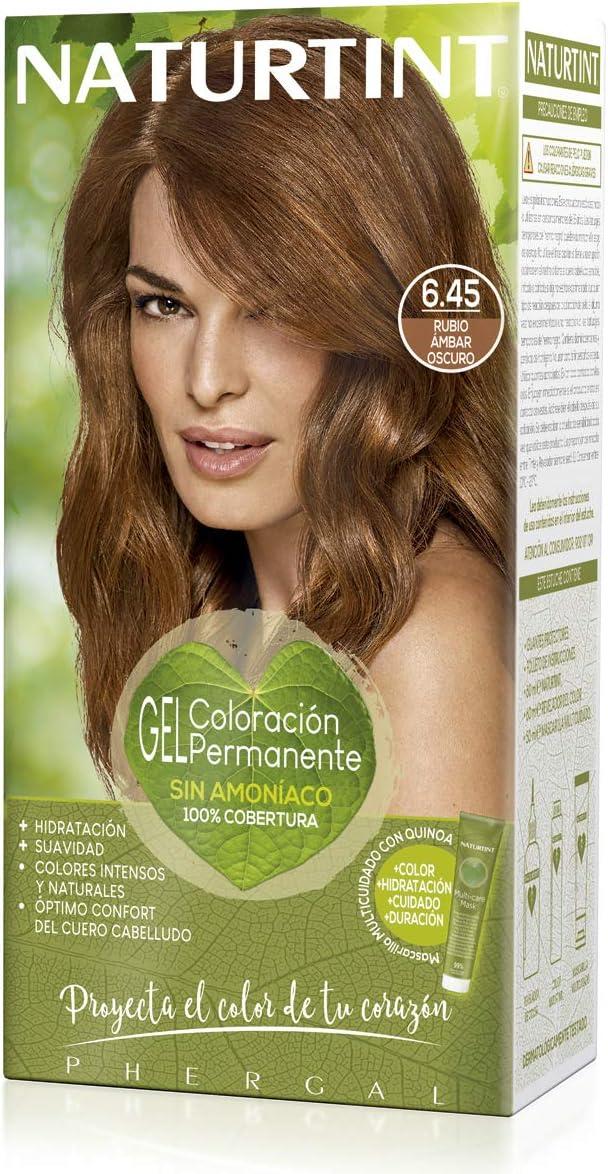 Naturtint | Haarfarbe Oohne Ammoniak |Hoher Anteil an natürlichen Inhaltsstoffen | 6.45. Bernsteinblond | 170ml