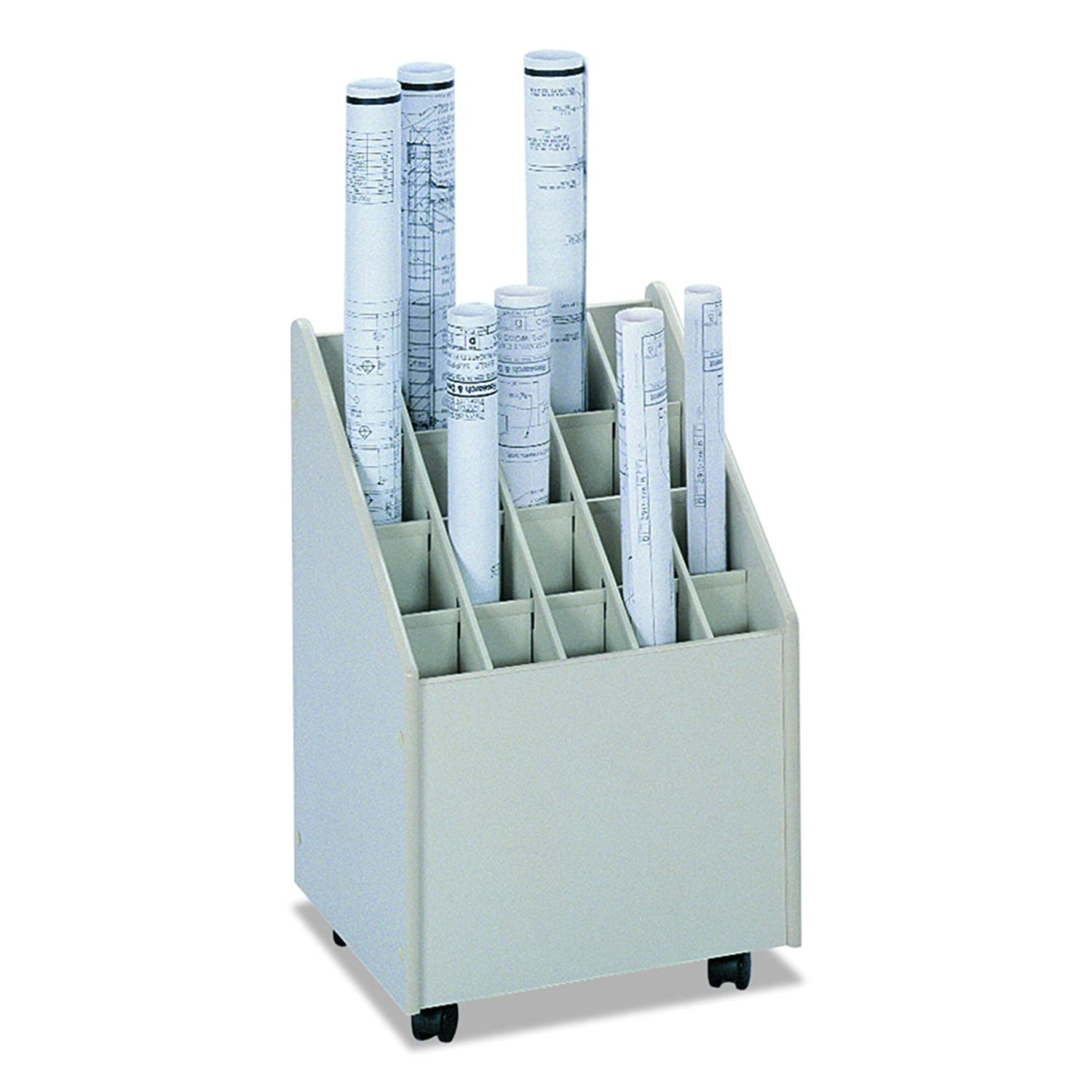 Safco Products 3082 Mobile Roll File, 20 Compartment, Putty United Stationers