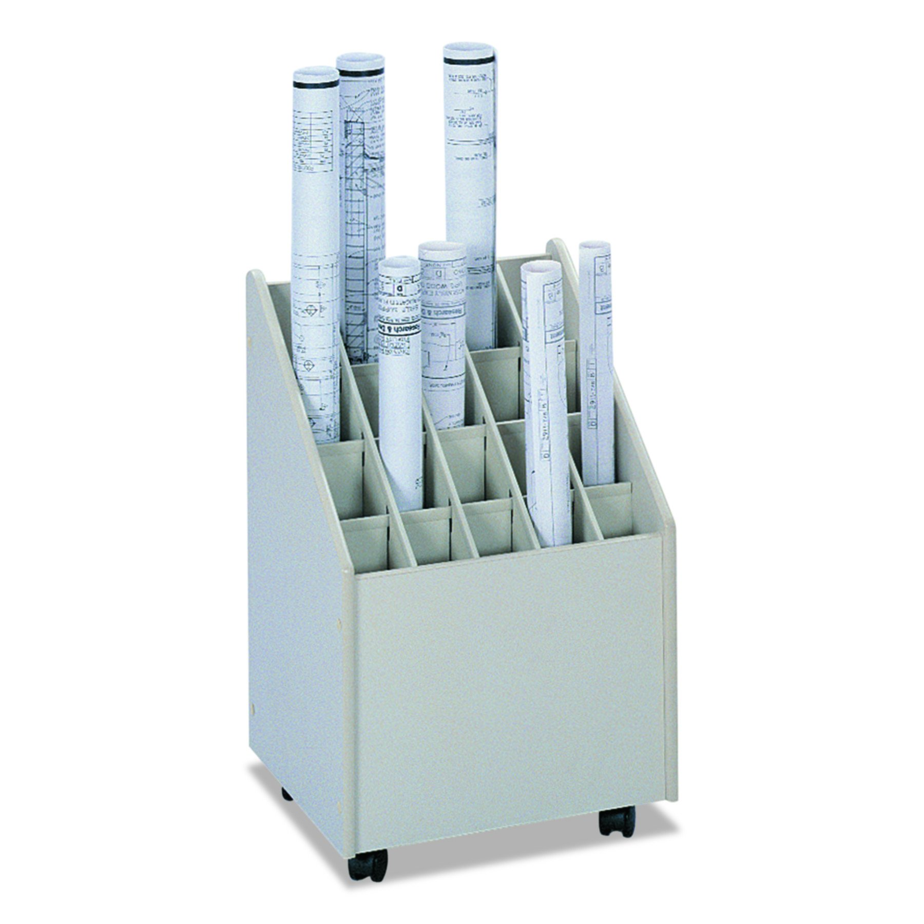 Safco Products Mobile Roll File, 20 Compartment, Putty by Safco