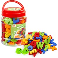 Coogam Magnetic Letters Numbers Alphabet Fridge Magnets Colorful Plastic ABC 123 Educational Toy Set Preschool Learning…