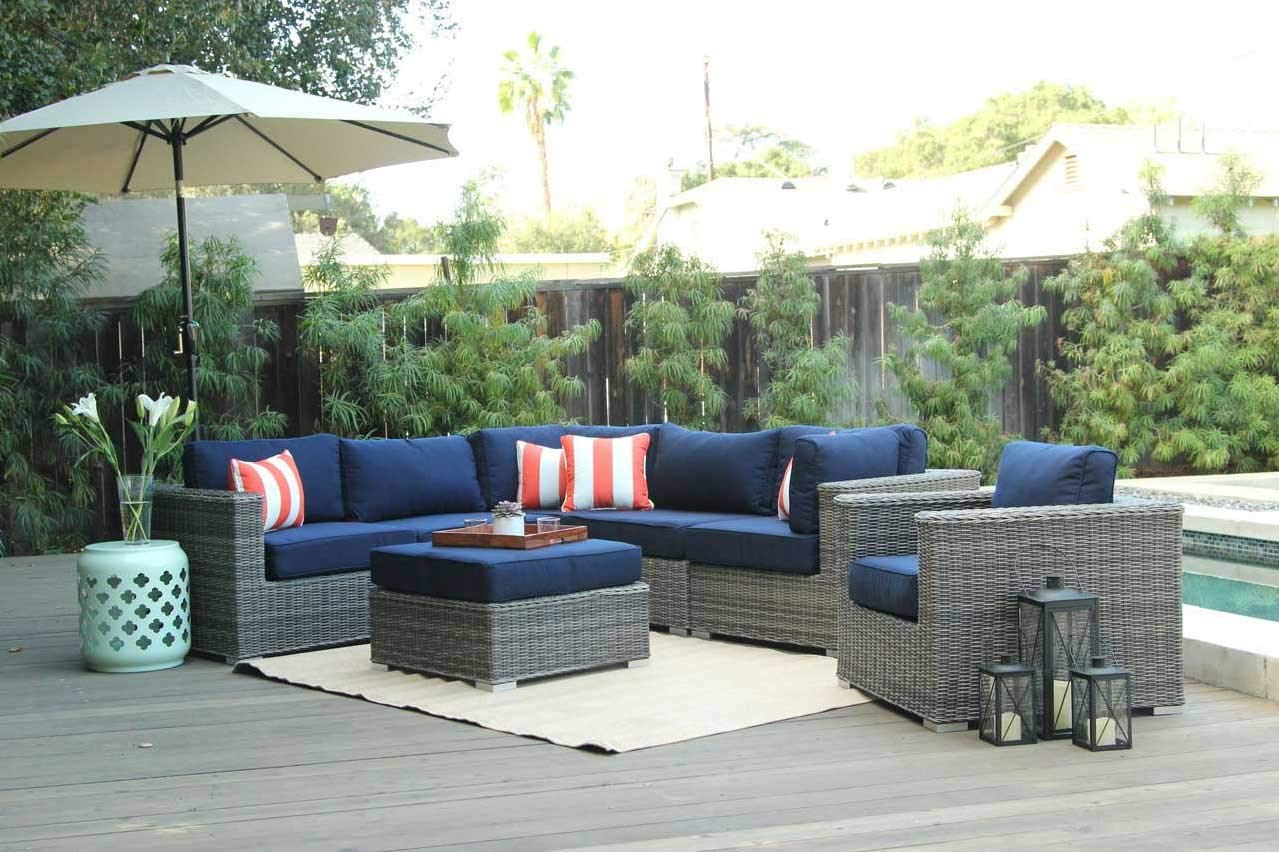 Amazon.com: Housym - Outdoor Furniture Sectional Sofa Set- 7 Pieces ...