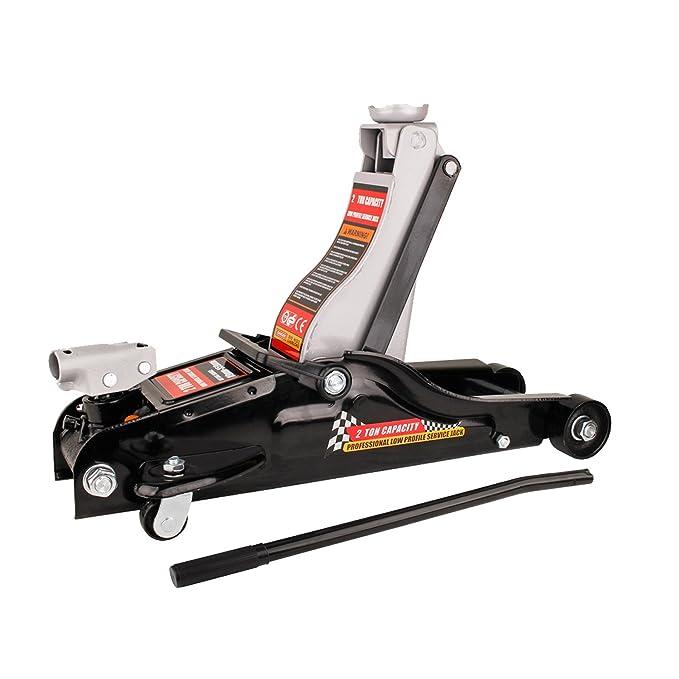 Forever Speed Speed Gato Hidráulico, Capacidad de Carga 2 T,Altura de elevación: 89 a 359 mm (Negro)