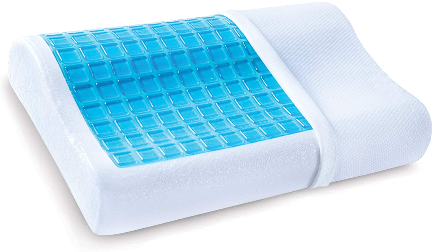 PharMeDoc Memory Foam Pillow with Cooling Gel Orthopedic Bed Pillow Includes Removable Pillow Cover, Contour Design