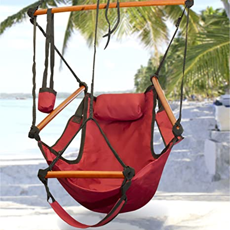 Super Best Choice Products Hammock Hanging Chair Air Deluxe Outdoor Chair Solid Wood 250Lb Blue Gamerscity Chair Design For Home Gamerscityorg