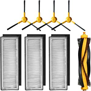 Accessory Kit for ECOVACS DEEBOT M80 M80 Pro Robotic Vacuum Cleaner - 3 Filters 4 Side Brushes & 1 Main Brush