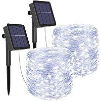 [2 Pack] Litogo Zonne Fairy Lights Buitenshuis, 12m 120 LED Zonne Tuinverlichting 8 Modi Waterdichte koperdraad…