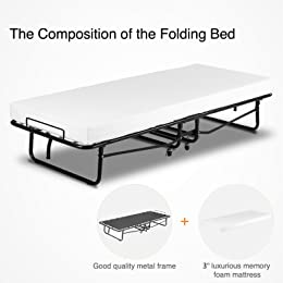 Mecor Folding Bed with Mattress