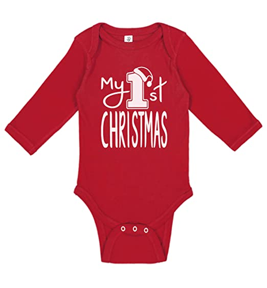Baby Boy & Baby Girl My First Christmas Outfit | Cute Handmade, Screen  Printed Infant - Amazon.com: Aiden's Corner Baby Boy & Baby Girl My First Christmas
