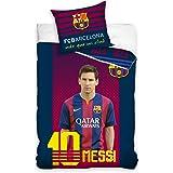 FC Barcelone Messi Housse de couette pour lit simple et 1taie d'oreiller