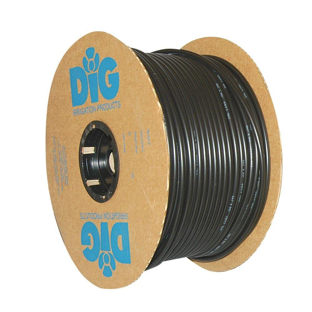 DIG B38500 1/4'' Vinyl Drip Micro Tubing, 500', Black