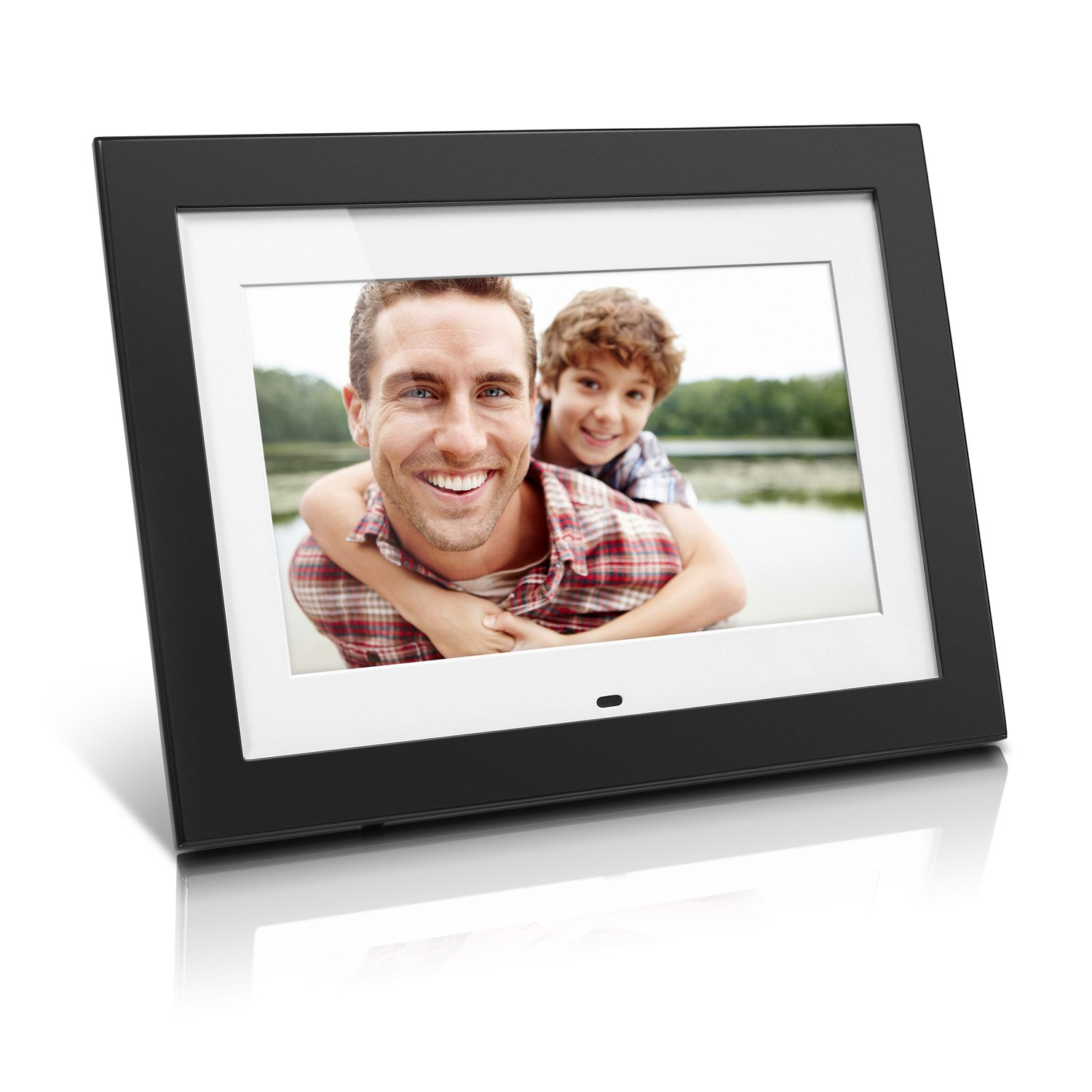 Aluratek ADMPF410T 10' Digital Photo Frame with 4GB Built-In, Music & Video Support, Black (White Matting), Auto On-Off, Calendar, Remote