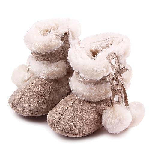super popular 868fe b3f01 Gosear Neonato Inverno Caldo Morbido Cotone Scarpe Stivali Natale Stivali