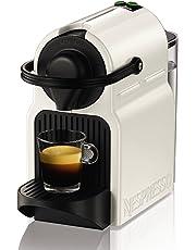 Nespresso Intenso Krups Inissia XN1001 Cafetera de cápsulas de 19 bares con 2 programas de café y función de autoapagado, color blanco