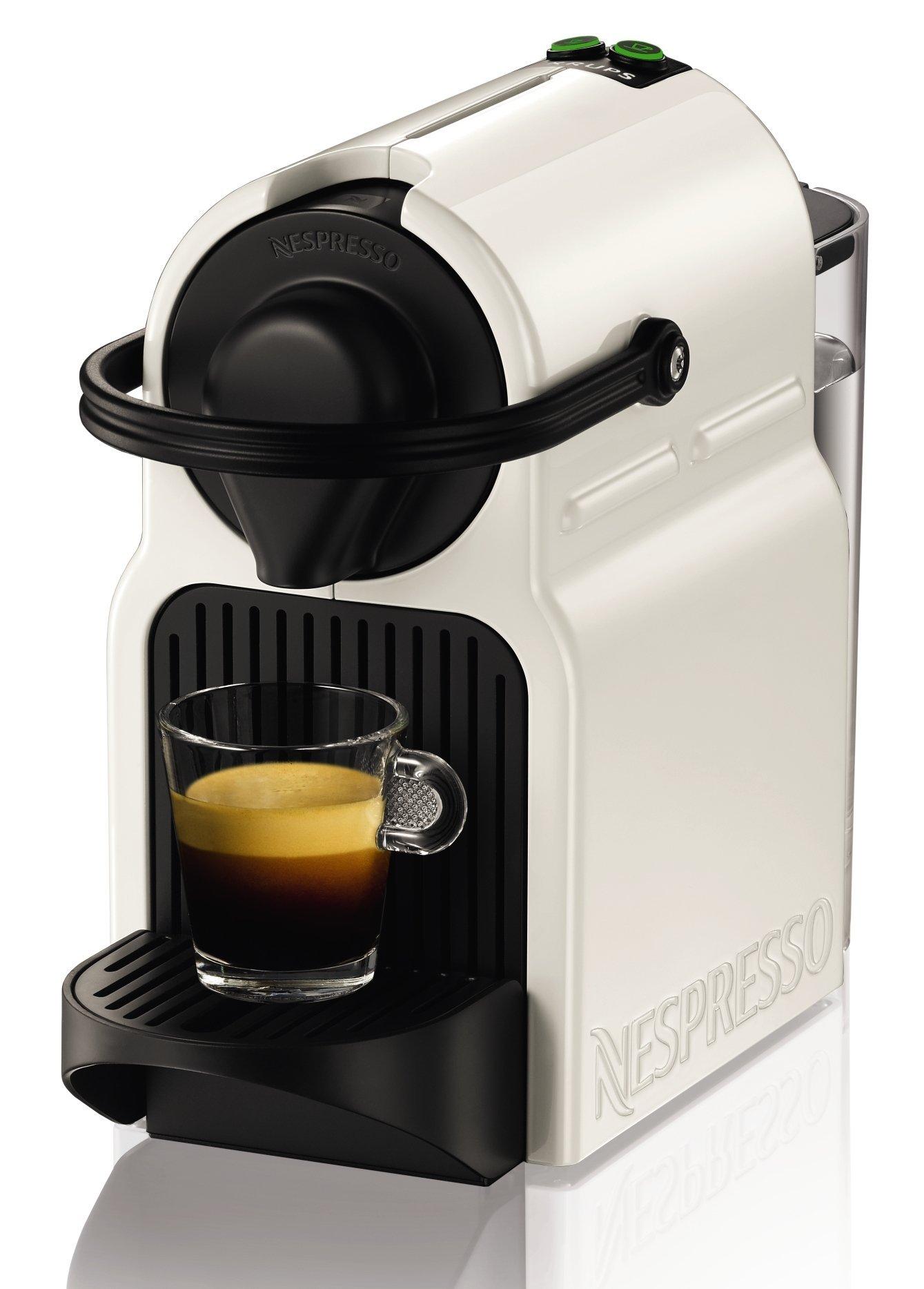 Nespresso Krups Inissia XN1001 - Cafetera monodosis de cápsulas Nespresso, 19 bares, apagado automático, color blanco product image