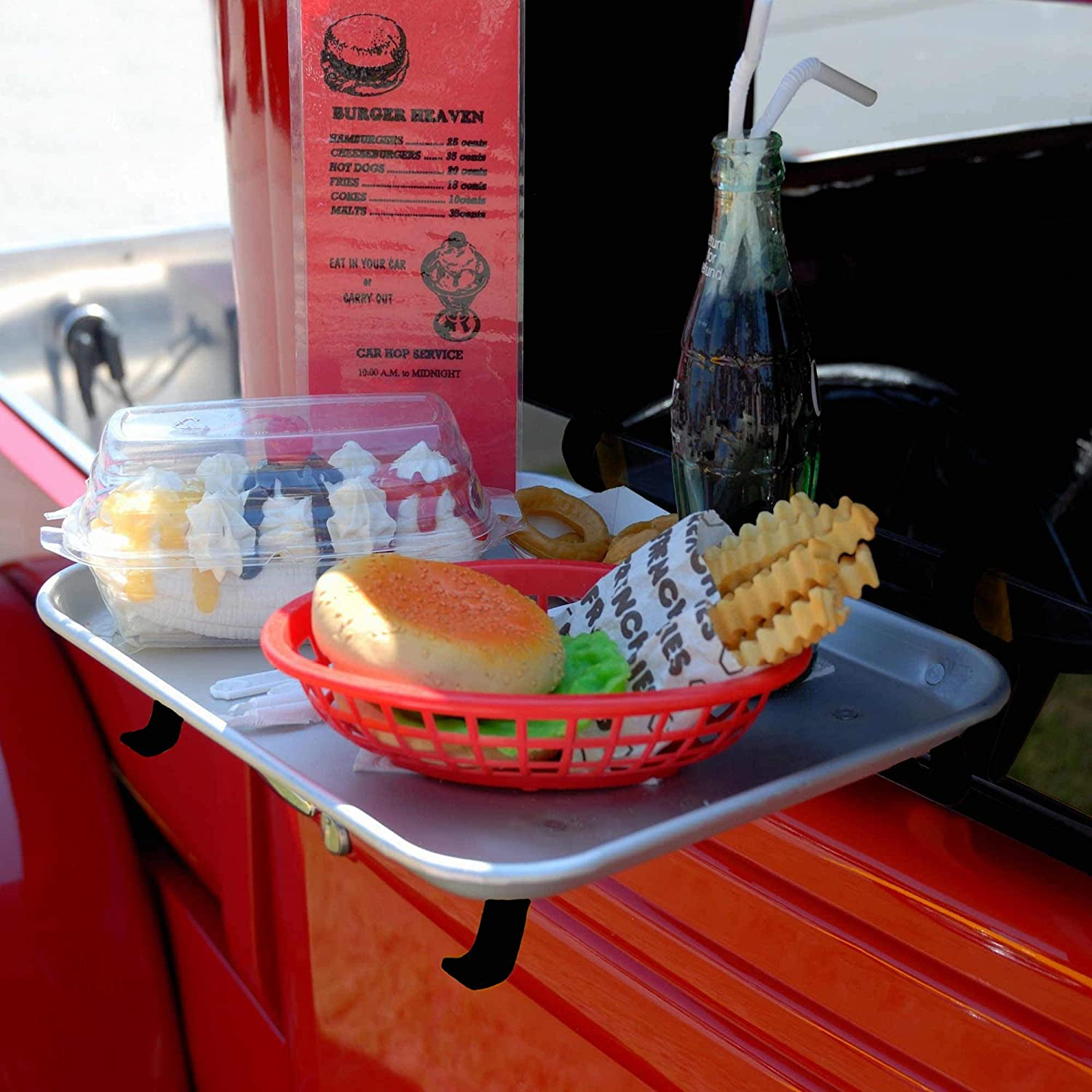 Car Hop Drive In Food Tray Industrial Aluminium Hangs Made in USA