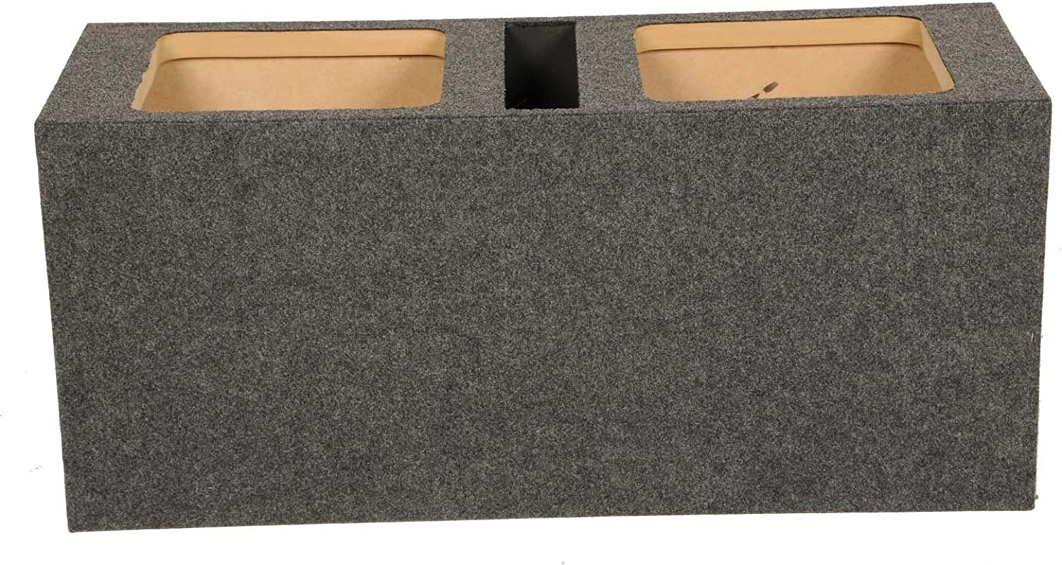 "DUAL 10/"" VENTED SUB BOX HEAVY DUTY 1/"" MDF HD210 VENTED QPOWER CARPET *NEW*"