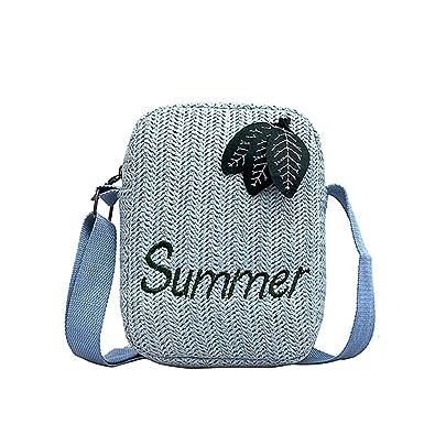 Rrock Fashion Woven Bag Chain Bag Single Shoulder Bag Wild Tassel Messenger Bag,White