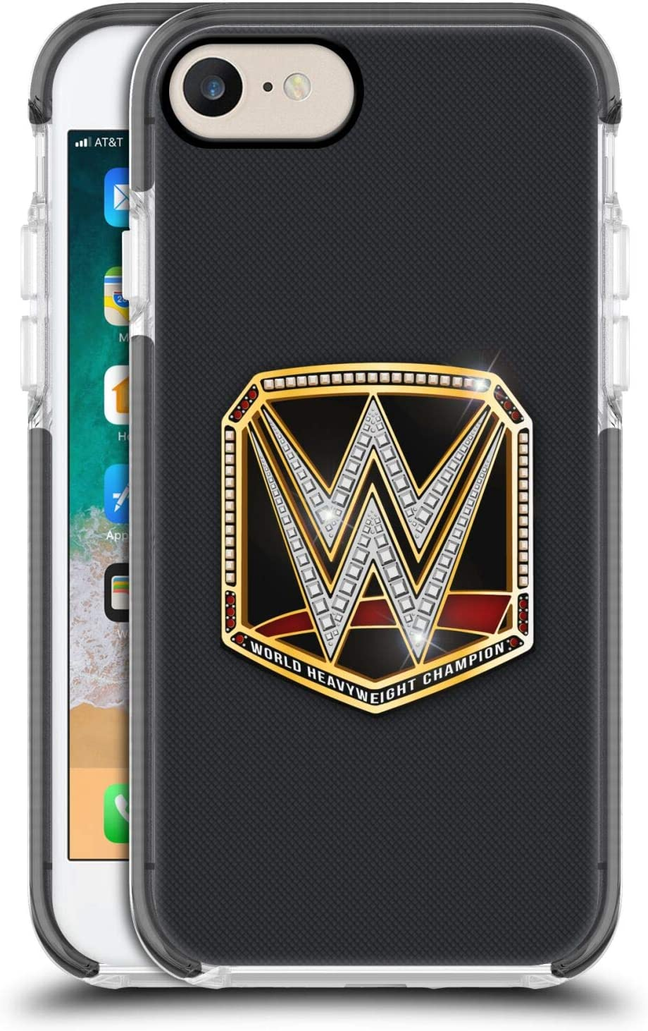 Head Case Designs Officially Licensed WWE World Heavyweight Champion Title Belts Black Shockproof Gel Bumper Case Compatible With Apple iPhone 7 / iPhone 8 / iPhone SE 2020