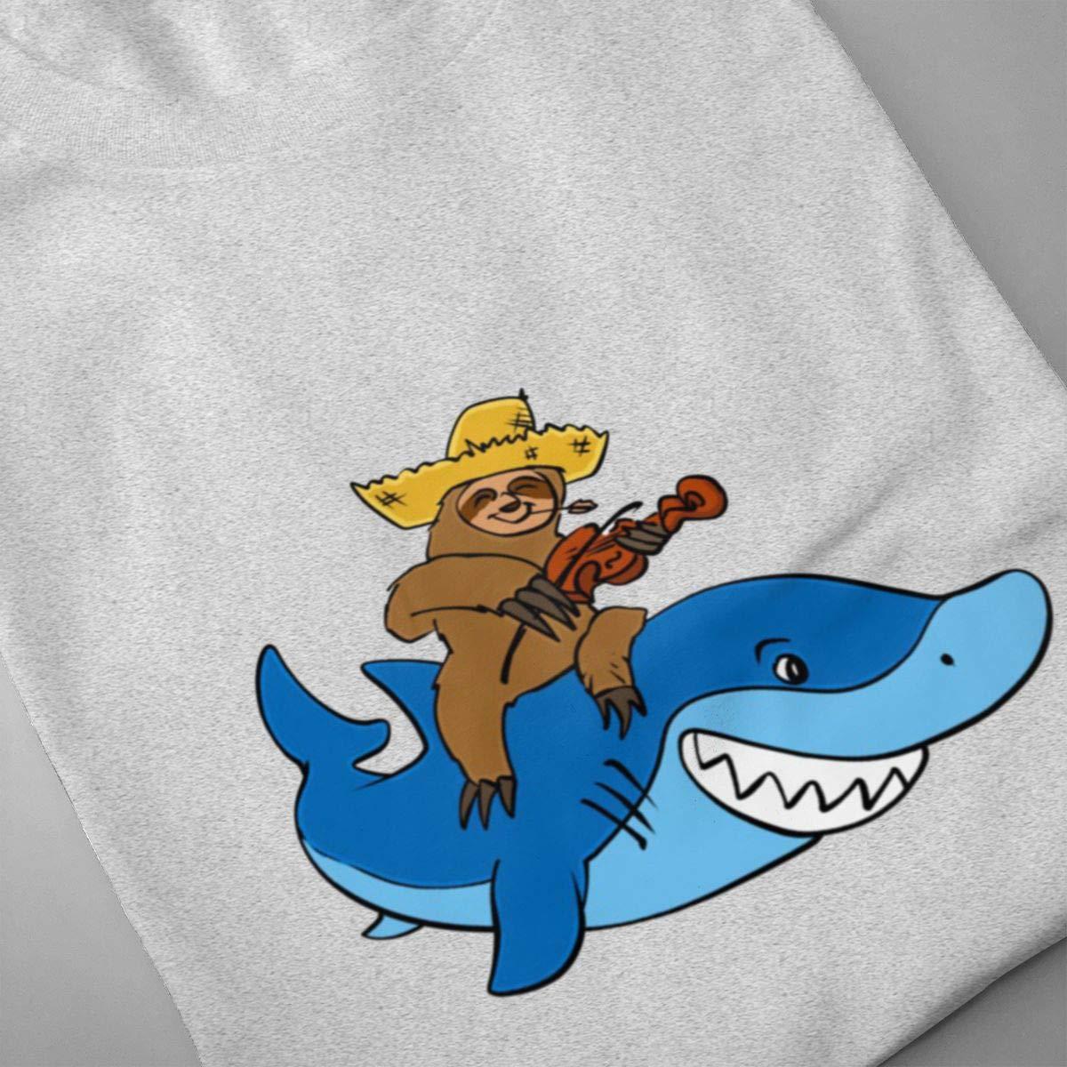 Luxendary Men Logo Hick Sloth Mounted On Shark Basic Running Round Neck Short Sleeve T-Shirts