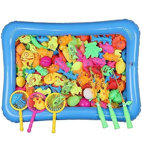 Juguetes de baño, piezas de juguetes magnéticos de pesca, juego de ...