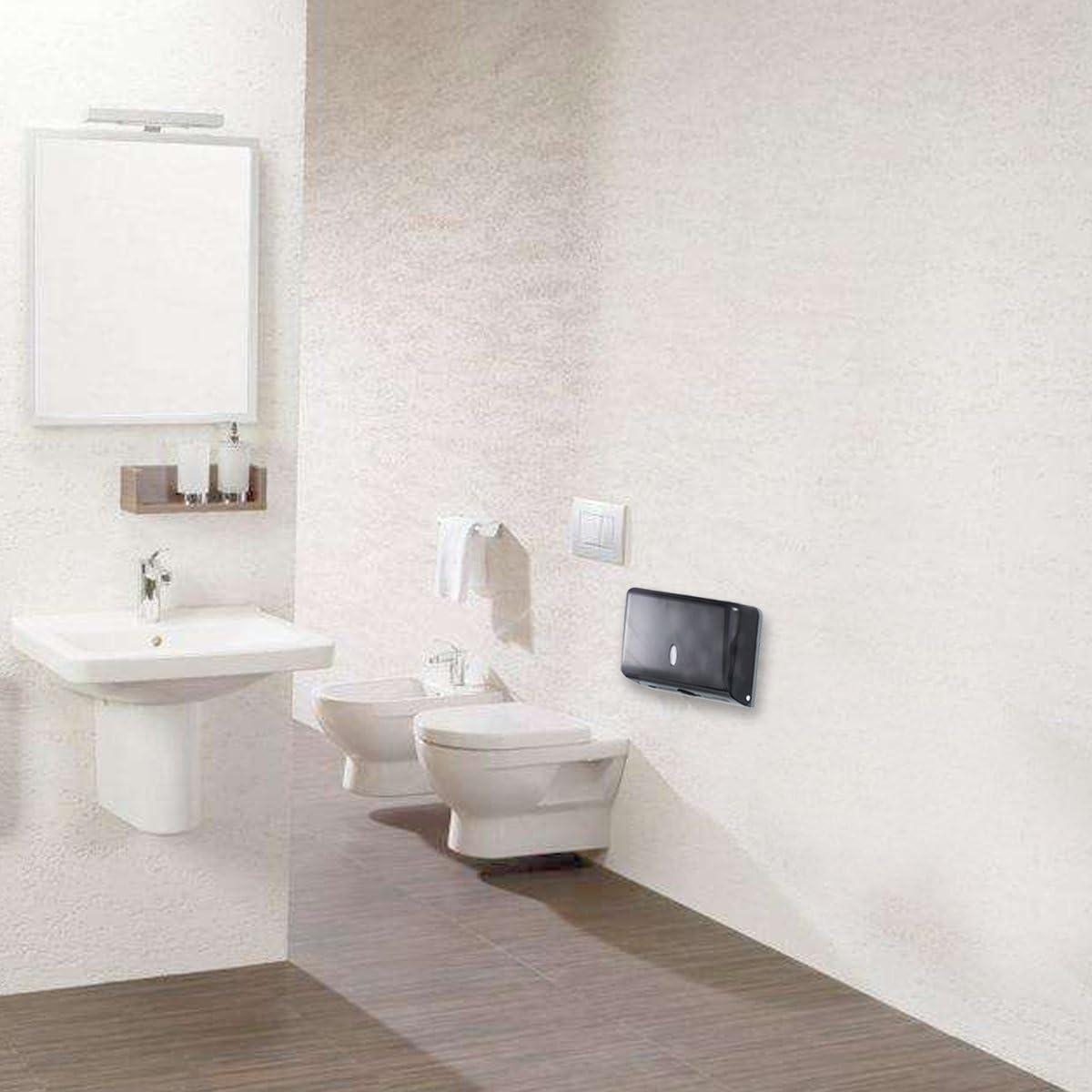 contenedor de papel dispensador de toallas de papel gris Portarrollos de papel de seda de pared para ba/ño OUNONA