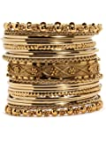Bindhani Traditional Wedding Gold-Plated Bangles Bracelets Set For Women (Mehandi )