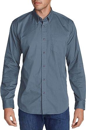 Eddie Bauer Signature Twill-hemd-Uni Camisa, Azul ...