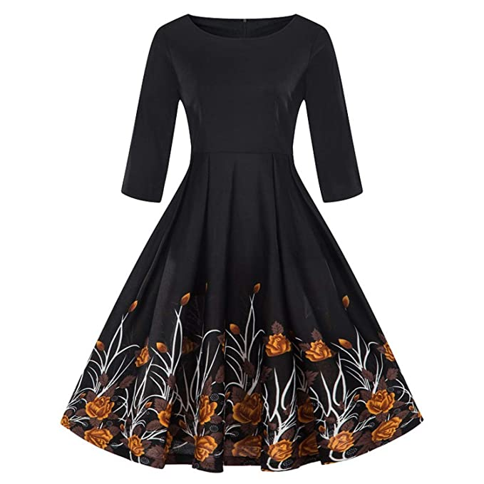 Retro Kleding.Surprisedresshatglasses Autumn Winter Skirt Dress Plus Size 3 4