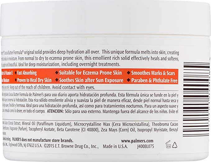 Palmers Fórmula Manteca de Cacao- Cuidado de la piel con vitamina E, 200 g: Amazon.es: Salud y cuidado personal