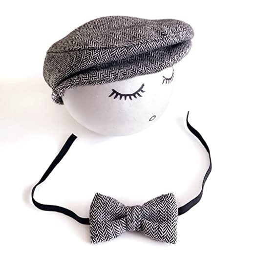 Image Unavailable. Image not available for. Color  Aniwon Baby Flat Hat Baby  Beret Cap Fashionable Infant Cap Baby Hat with Bowtie f0997c07a0bc