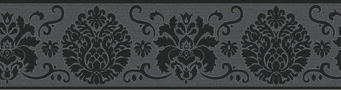 Fine Decor Campbell - Cenefa para pared (125 mm), color negro FDB07502S