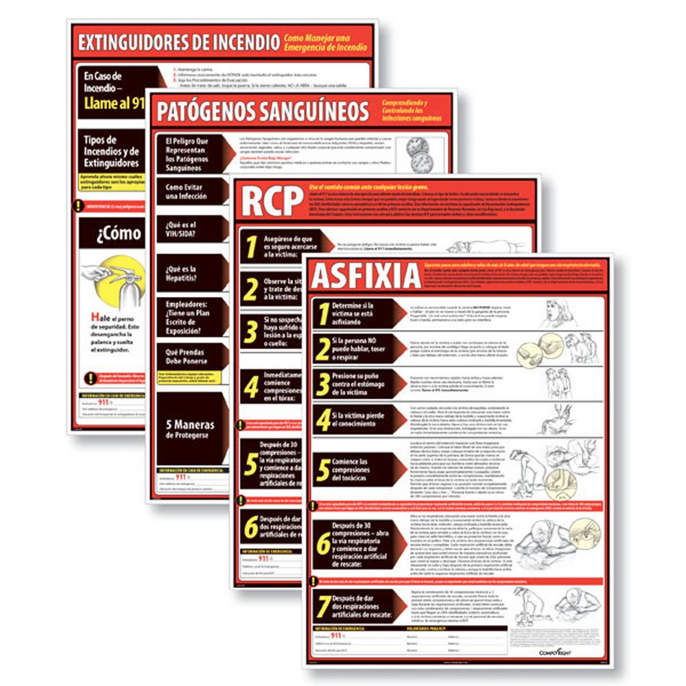 ComplyRight WR1150 Lifesaving Poster Set (4) SP by ComplyRight (Image #1)