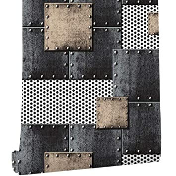 Papier Peint 3d Loft Style Industriel Vintage Motif De Soudure Pvc