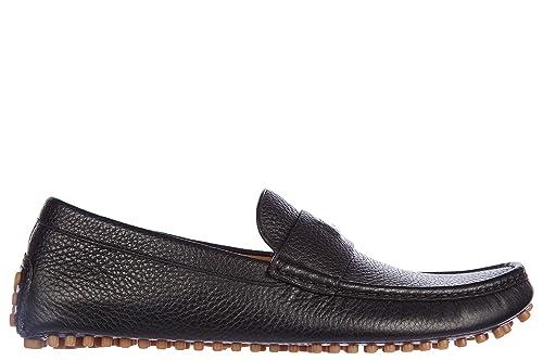 Gucci Mocasines en Piel Hombres Camelot Negro EU 41 353044 AOD00 1000: Amazon.es: Zapatos y complementos