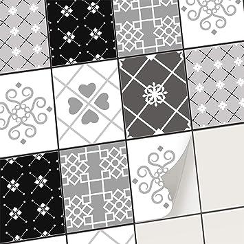 Stickers Carrelage Autocollant Adhesif Mural Deco Carreaux De Ciment I Recouvrir Carrelage Credence Cuisine I Adhesive Decorative A Carreaux 20x25