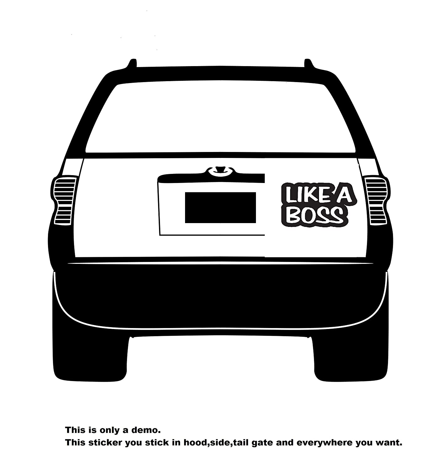 Buy like a boss car decorative sticker 20x12cm online at low prices in india amazon in