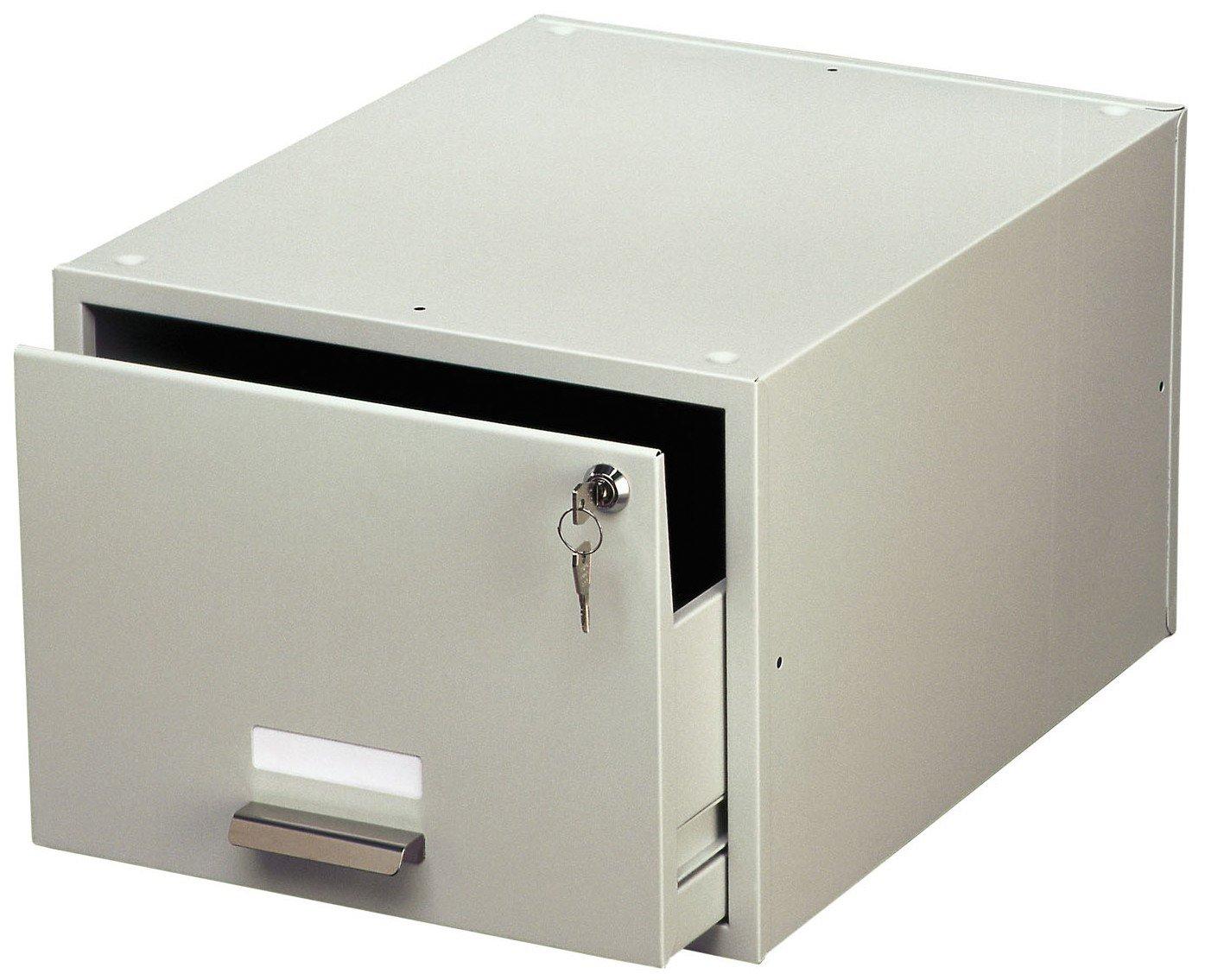 199x155x420 mm con supporto documenti impilabile Schedario da tavolo A6 1500 cartellini LxHxP DURABLE 335210 acciaio verniciato grigio