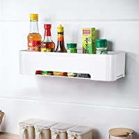 Bathroom Storage Shower Caddy Organizer Adhesive Kitchen Office Shelf Wall Shower Shelves Basket Tray Plastic White