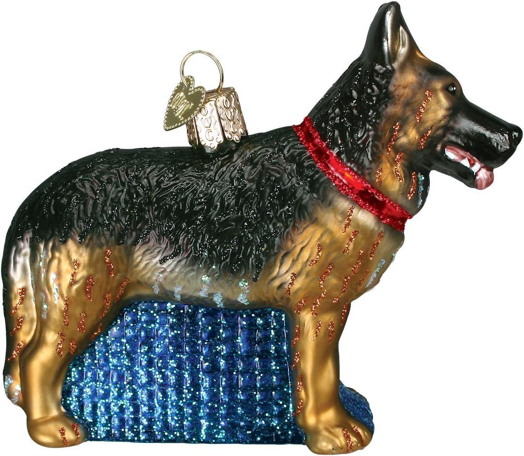 German Shephard dog ornament wooden Christmas Gift D-41