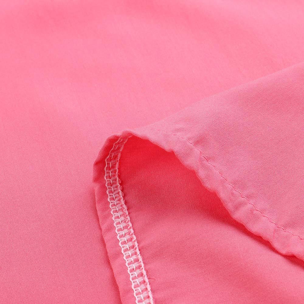 Luckycat Camisa de Manga Corta de Bot/ón de Mujer Tallas Grandes Camisetas Mujer Manga Corta Camisas Mujer Verano Elegantes Estampado de Pentagrama Moda Casual T Shirt para Mujer Fiesta Playa