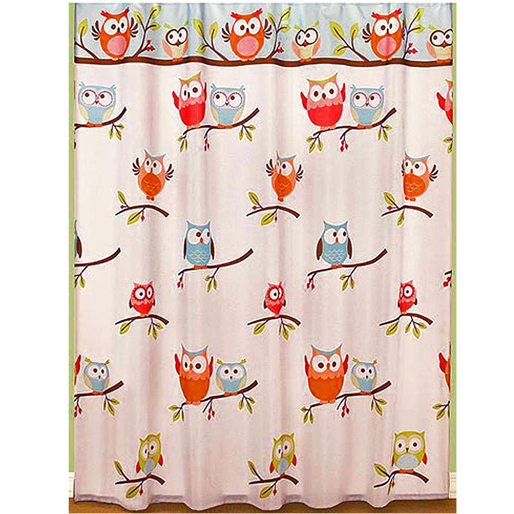 Owl shower curtains - Amazon Com Hooty Bathroom Collection Colorful Hoot Owl Bath Accessories Shower Curtain Home Kitchen