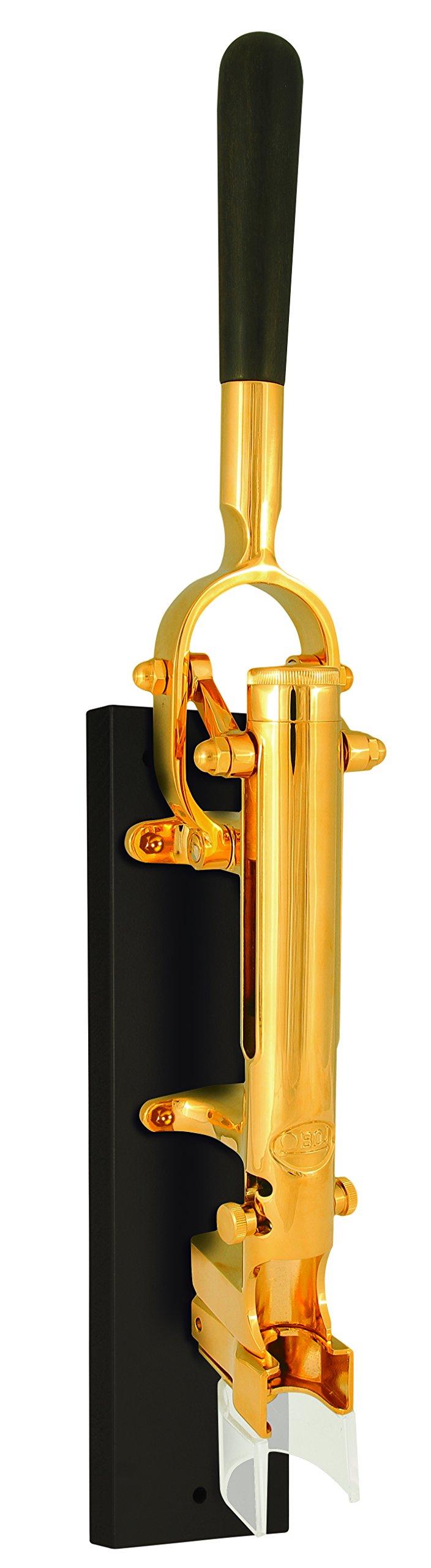 Boj Olaneta 01046104 Gold Plated Wall-Mounted Corkscrew with Wood Backing, Zamak